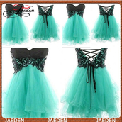 short prom dress,prom dress,sweetheart dress,green dress,lace up,lace dress,sexy prom dress,evening dress,black dress,tulle dress,dress