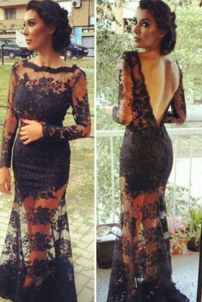 Vestido Long Sleeve Lace Gown  - LaFashioniStar's