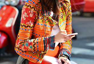 jacket aztec shoes embroided jacket ethnic boho