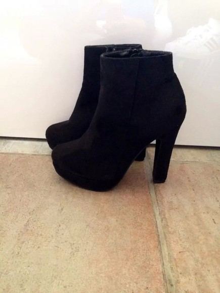shoes high heels black black heels ankle boots heeled ankle boots black boots platform shoes winter outfits boots black ankle boots