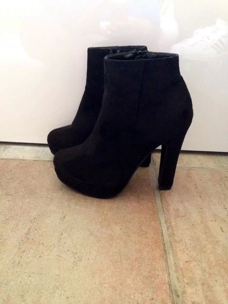 heels ankle boots heeled ankle boots black heels black boots shoes black high heels platform shoes winter outfits boots black ankle boots