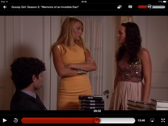 dress serena van der woodsen orange dress blake lively