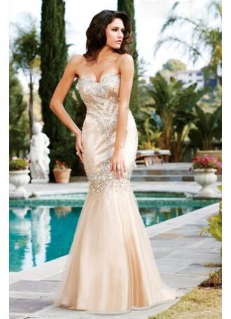 dress beaded champagne gold dress champagne prom dress long prom dress