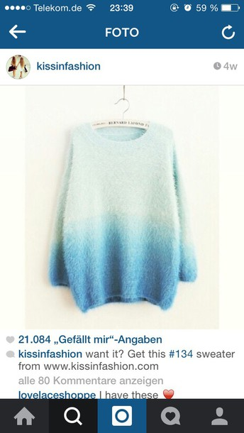 sweater ombre sweater