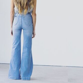 jeans high rise jeans light blue jeans high waisted jeans bell bottoms flare jeans