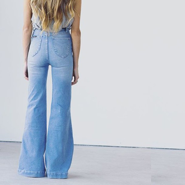 jeans high rise jeans light blue jeans high waisted jeans bell bottoms  flare jeans ab6a97871