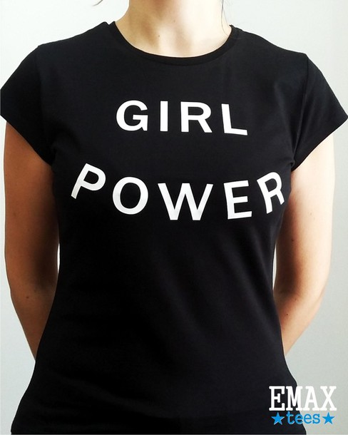 0f2991175f9d t-shirt, girl power, top, clothes, tumblr, feminism, graphic tee ...