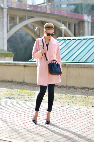 oh my vogue coat bag shoes jeans sunglasses