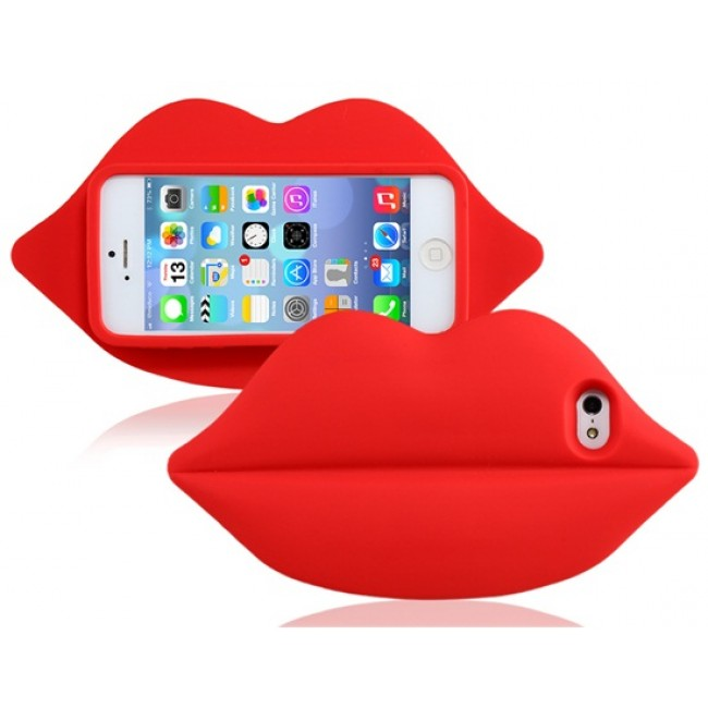 Big Lips Red iPhone 5S Case