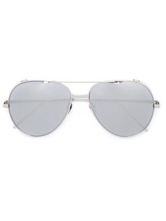 metal women sunglasses aviator sunglasses grey