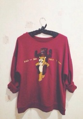 sweater,red,fall out boy