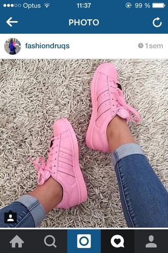 shoes adidas pink superstar adidas superstars adidas shoes instagram