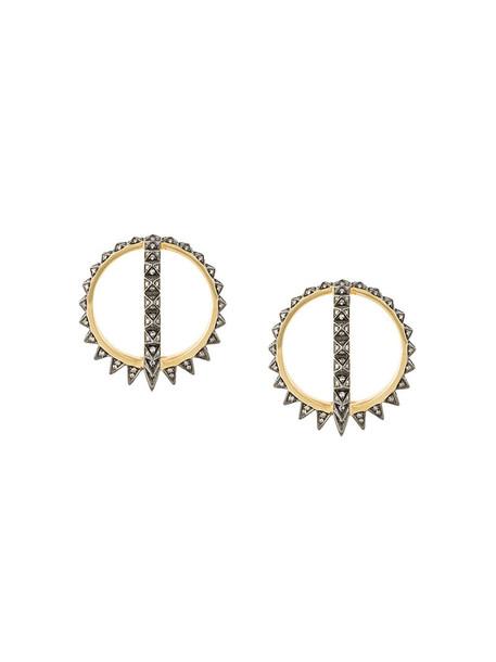 Noor Fares women earrings gold black yellow jewels