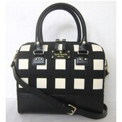 bag,kate spade,black and white