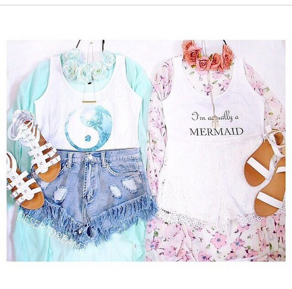 sandals fashion blouse kimono blue dress blue shirt pink dress turquoise flowers t-shirt