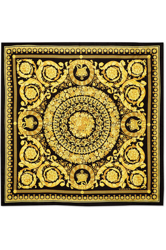 scarf black silk