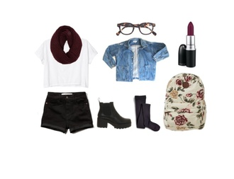 shorts jacket bag denim jacket t shirt with words floral backpack black knee length socks