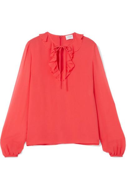 GIAMBATTISTA VALLI blouse chiffon blouse chiffon silk top