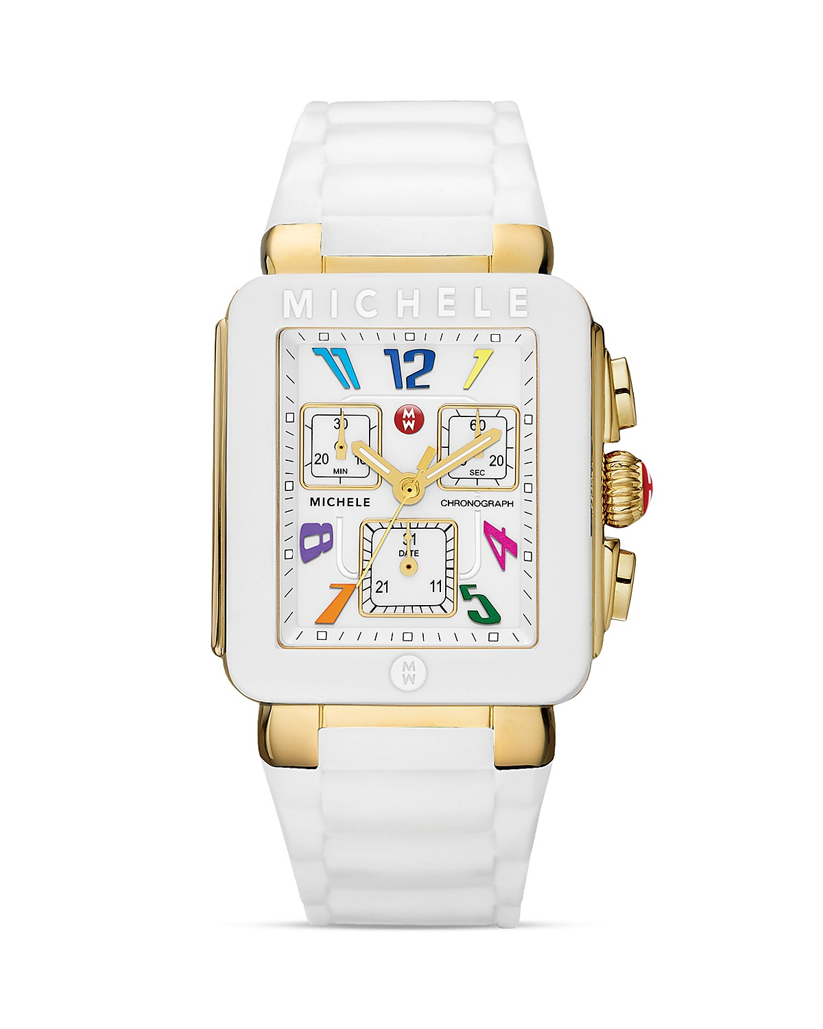 MICHELE Park Jelly Bean White Carousel Watch, 33mm | Bloomingdale's