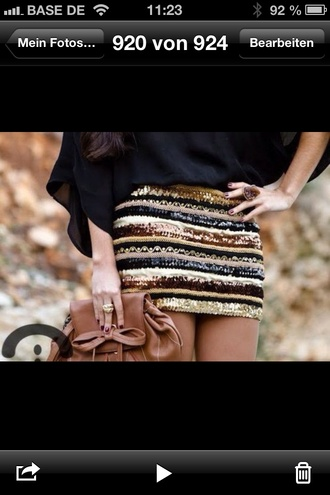 skirt gold gold sequins gold skirt gold and brown skirt gold glitter skirt pearl pailettes paillettes high waisted