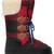 Plaid Nylon & Leather Snow Boots