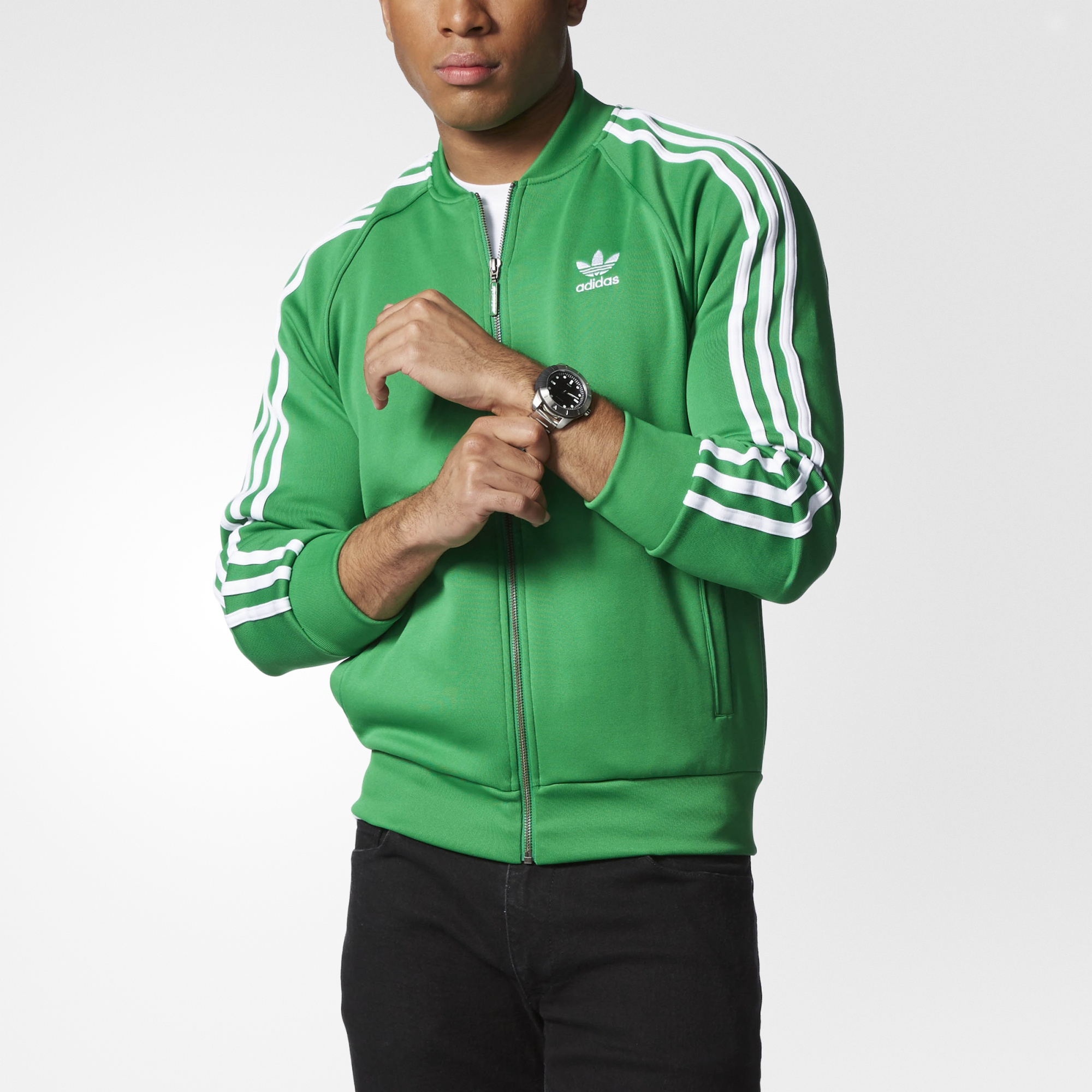 adidas superstar track jacket green adidas us. Black Bedroom Furniture Sets. Home Design Ideas