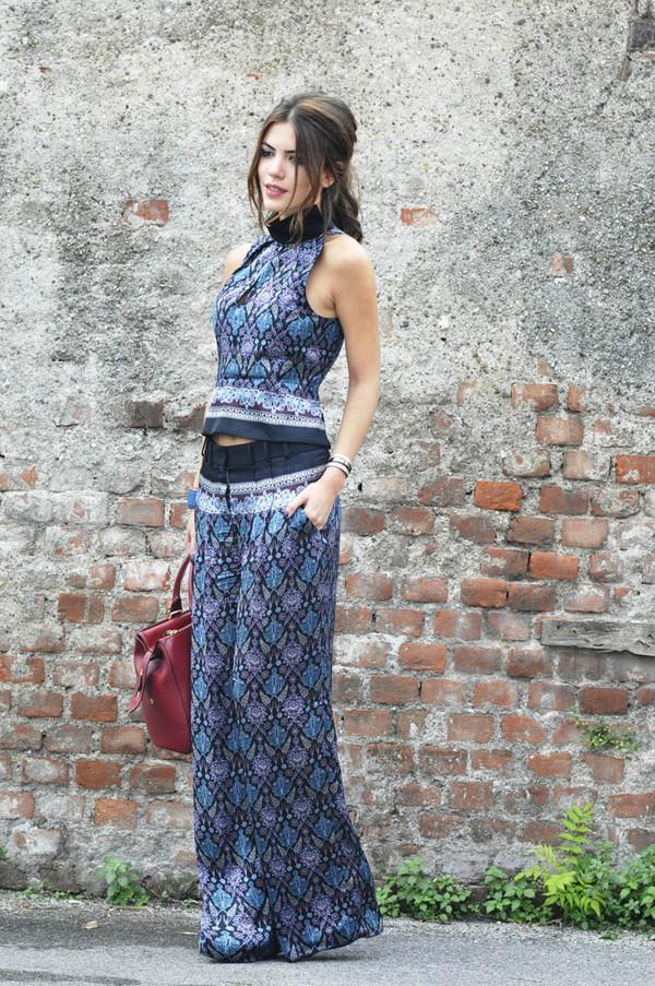 maritsa t-shirt pants bag jewels