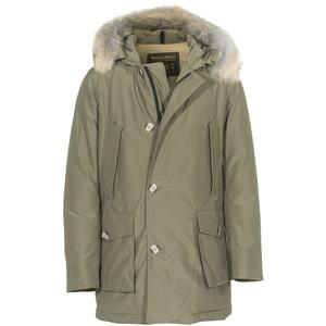 WOOLRICH Slim Arctic Parka Olive Fur trimmed down parka - Polyvore