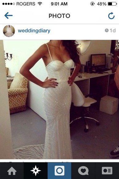 gown beaded dress wedding dress