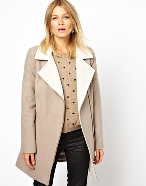 Oasis | Oasis Two Tone Biker Coat at ASOS