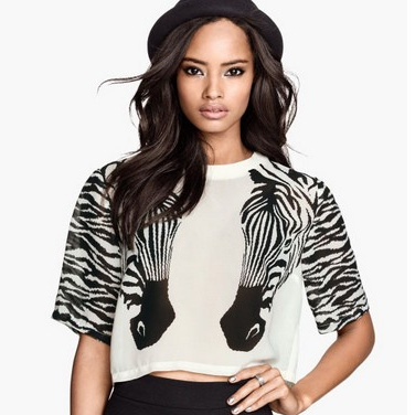 Twin zebra crop tee · luxe muse · online store powered by storenvy