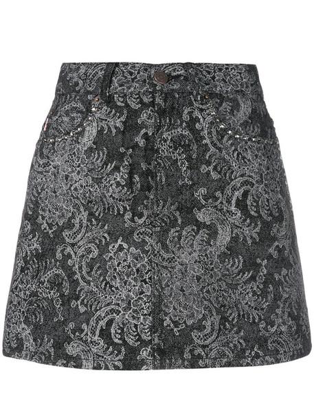 Marc Jacobs skirt women lace cotton print black