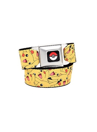 belt pikachu yellow black white red