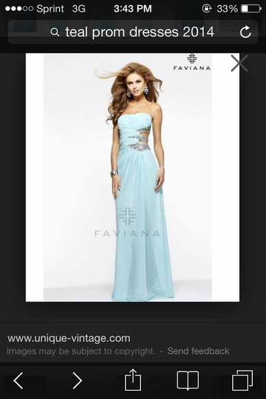 dress teal dress prom dress 2014 prom dresses