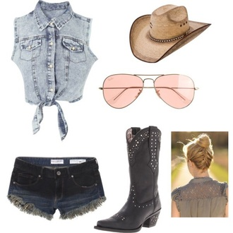 shirt cowgirl boots couples necklaces jacket shorts shoes