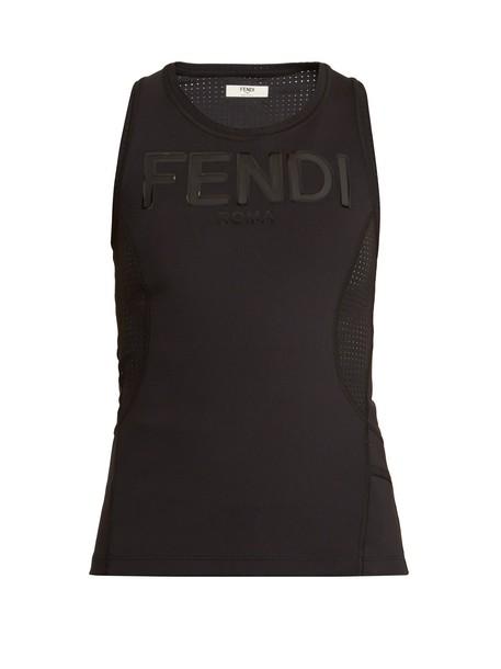 Fendi tank top top print black