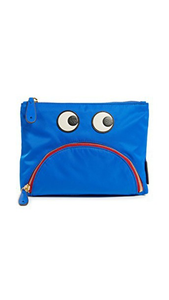 Anya Hindmarch eyes pouch blue bag