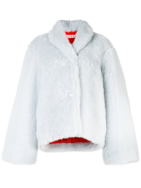 MARNI jacket women mohair cotton blue