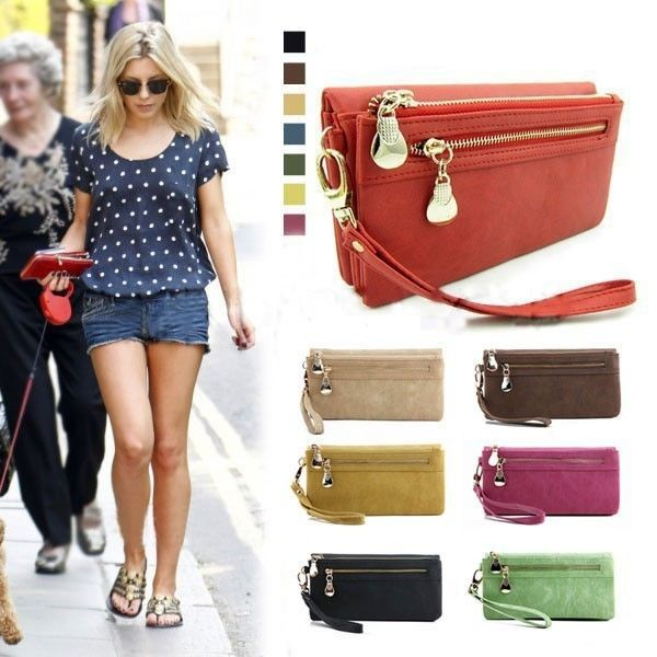 Aliexpress.com : Buy 2014 New Women's Day Clutches Wallet Wristlet Lady Card Coin Holder Long Wallet Clutch Zipper Purse 2104 from Reliable purse wallet suppliers on Dola's Wardrobe