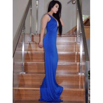 dress royal blue elegant fashion style classy beautiful rosewholesale.com rose wholesale