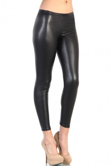 LoveMelrose.com From Harry & Molly | Leather Leggings - Black