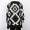 Aztec womens open front wrap cape sweater jackets cardigan loose oversized coats