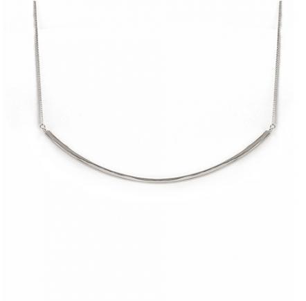 Bar collar silver - shoprajic.com