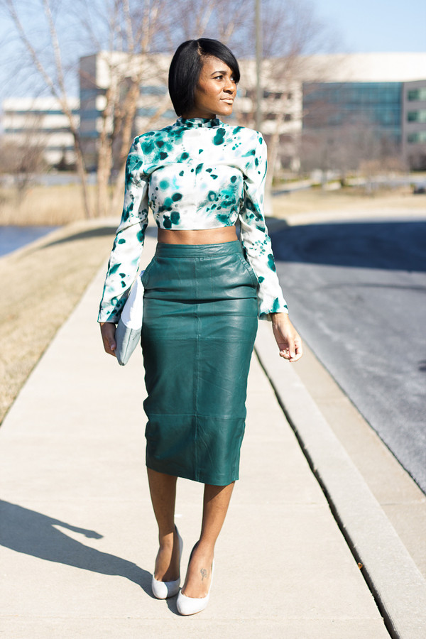 the daileigh jacket skirt bag shoes blouse green skirt top