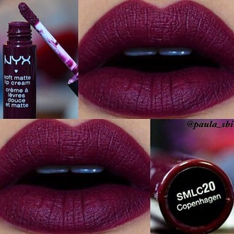 make-up lipstick lip gloss red lipstick dark lipstick nyx cosmetics fashion