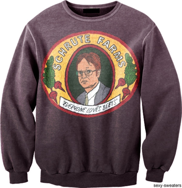 Sweater: the office, beets, tv, sexy sweater, dwight schrute ...