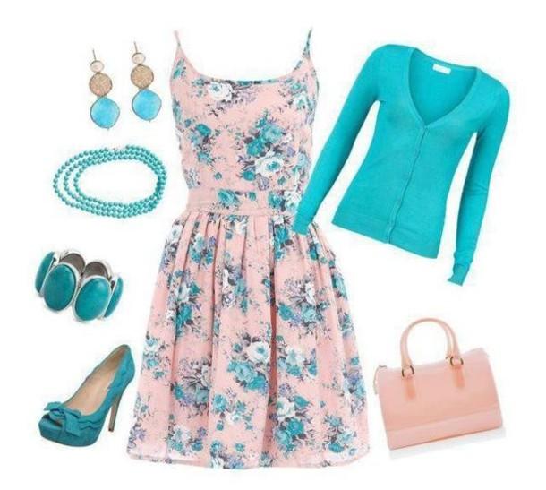 dress handbag tourquise