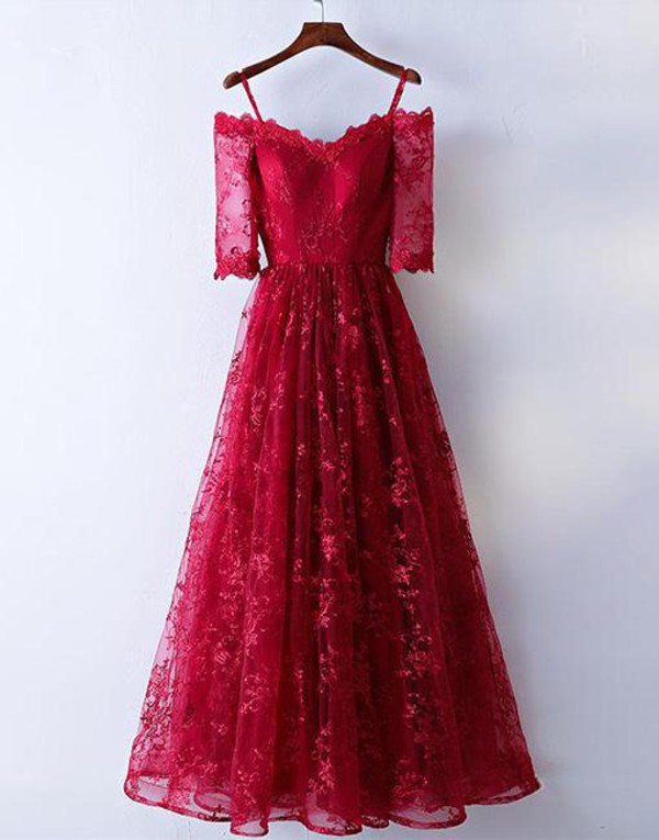 dress prom dress long prom dress red dress burgundy prom dress long bridesmaid dress evening dress long prom dresses 2016 wedding party dress formal dress lace dress lace prom dress bridesmaid special occasion dress style fashion floor length dress
