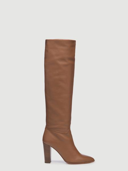 Frame x Tamara Mellon Slouch Knee Boot Luggage