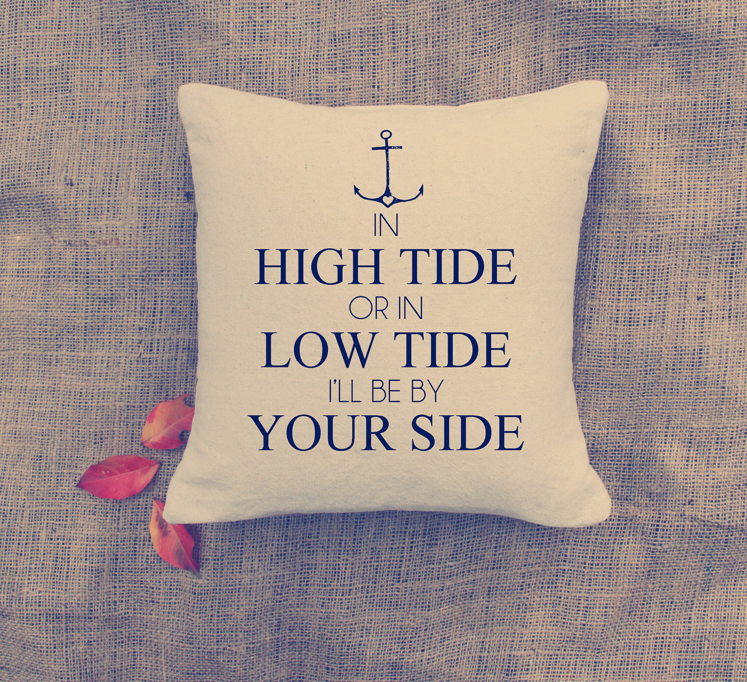 Valentine's day: in high tide pillow cover